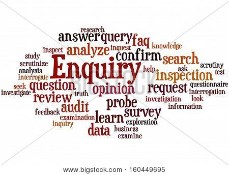 Enquiry, Word Cloud Concept 6