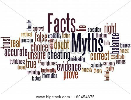 Facts - Myths, Word Cloud Concept 2