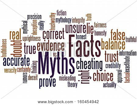 Facts - Myths, Word Cloud Concept 5