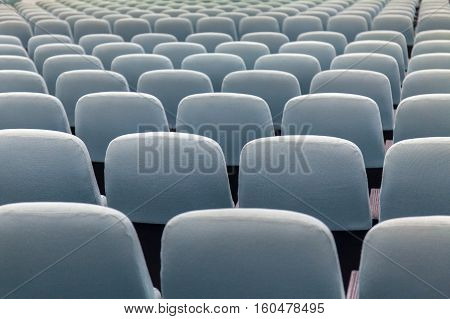 empty Grey Colour seat lecture hall with no people