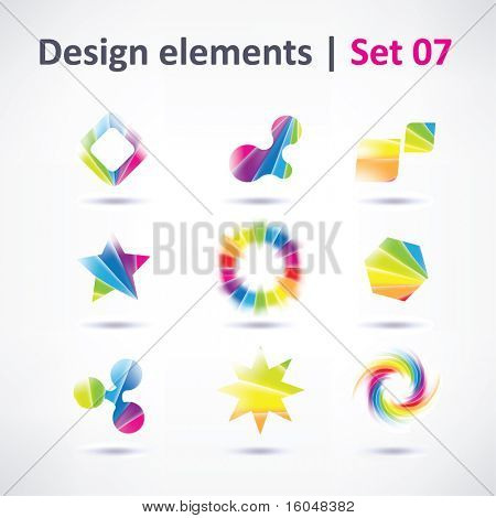 Business Design elements ( icon )  set for print and web. vector