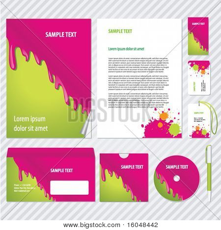 pouring  paint Template for Business artworks. Vector