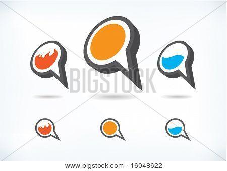 Icon Dialog symbols vector