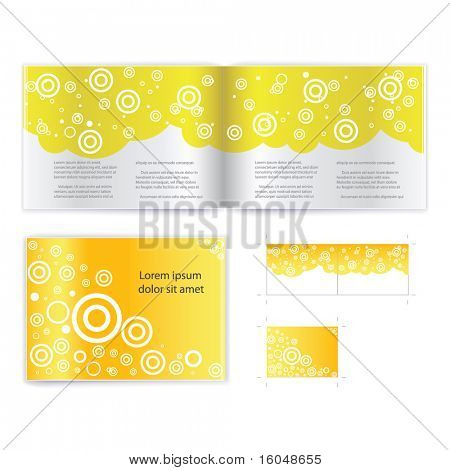 Brochure ( booklet ) cover template vector. Include print version
