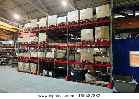 Workshop on production of handling removable devices. Finished goods warehouse.