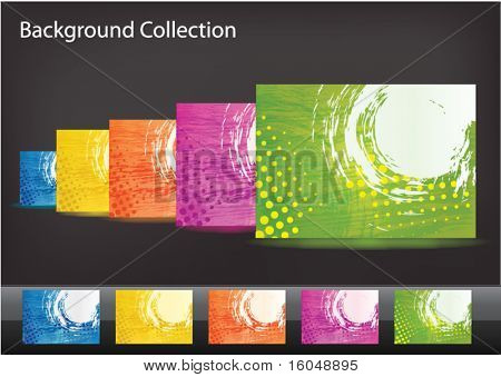 Abstract background pack (set) vector