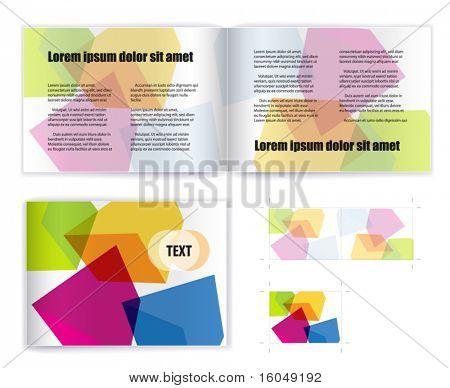 Template vector for print( presentation