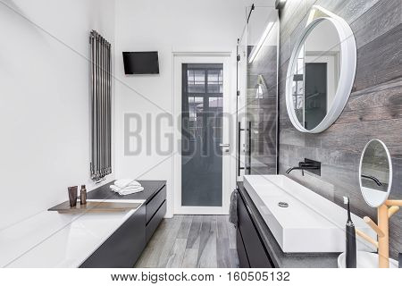 Small, Bright Bathroom