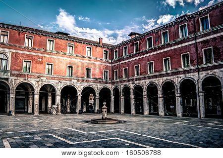 An HDR image of San Giacomo di Rialto Square, Venice, Italy