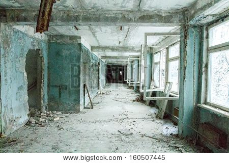 Abandoned school in Pripyat in the explosion at the Chernobyl nuclear stanitsiyi.