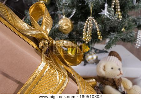Christmas toys and textures. Decoration and gifts.