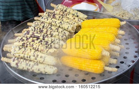 Grilling Corn On The Street