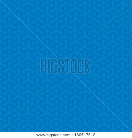 Blue Neutral Seamless Pattern for Modern Design in Flat Style. Tileable Geometric Vector Background.
