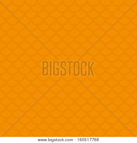 Fish scale. Orange Neutral Seamless Pattern for Modern Design in Flat Style. Tileable Geometric Vector Background.