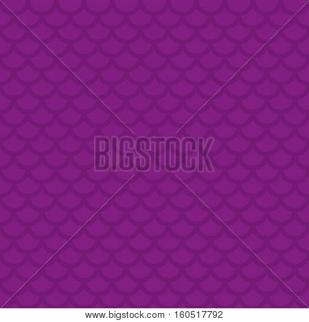 Fish scale. Purple Neutral Seamless Pattern for Modern Design in Flat Style. Tileable Geometric Vector Background.