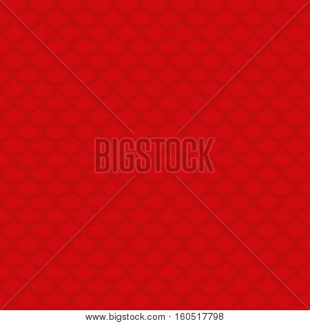 Fish scale. Red Neutral Seamless Pattern for Modern Design in Flat Style. Tileable Geometric Vector Background.