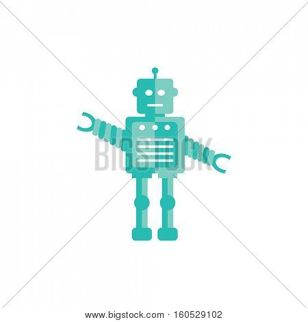 Robot icon illustration on a white background