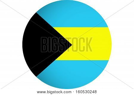 Bahamas flag ,3D Bahamas national flag illustration symbol.
