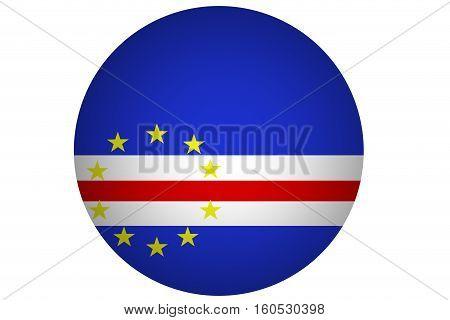 Cape verde flag ,3D Cape verde national flag illustration symbol