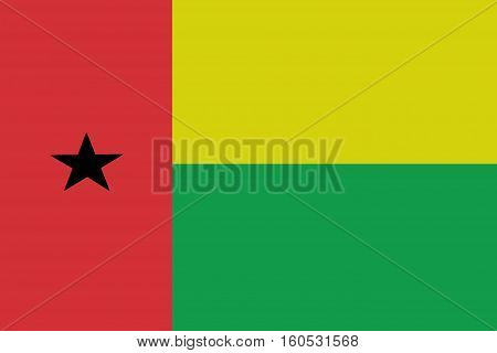Guinea Bissau  flag ,3D Guinea Bissau national flag illustration symbol.