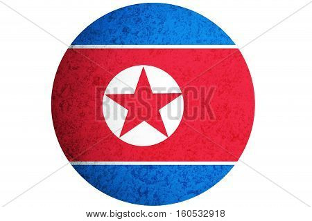 North Korea flag North Korea national flag illustration symbol.