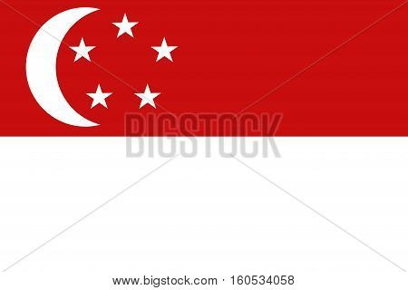 Singapore flag ,3D Singapore national flag illustration symbol.