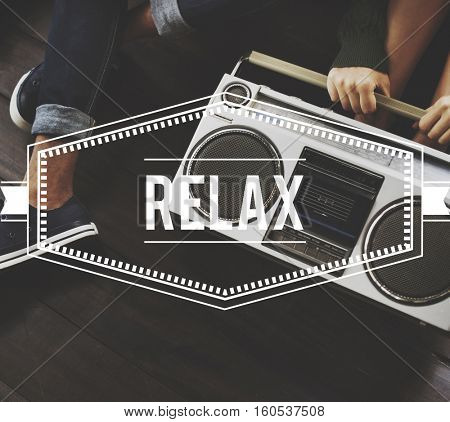 Relax Vintage Vector Graphic Concept
