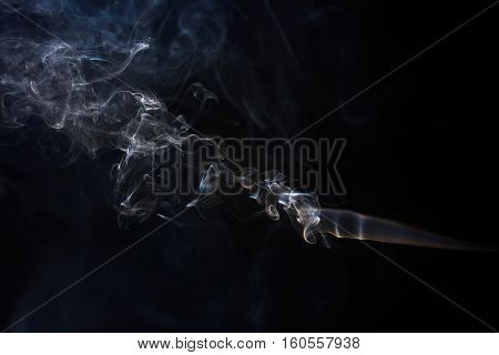 Freeze Motion Of Smoke.
