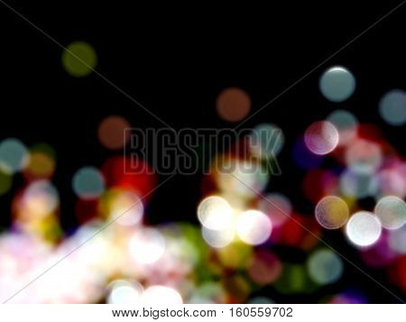 colored highlights on a black background , beautiful colorful reflections on a black background