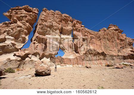Strange rock formations in Altiplano Bolivia South America