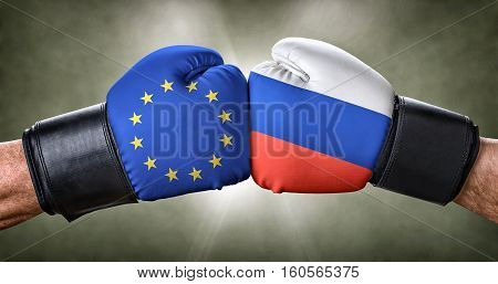 A Boxing Match Between The European Union And Russia