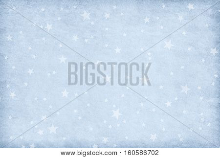 Vintage  light  blue paper decorated with  stars
