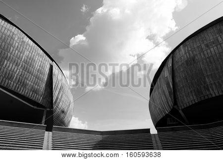 ROME, ITALY - 06/09/2016: Auditorium Parco della Musica designed by Italian architect Renzo Piano.