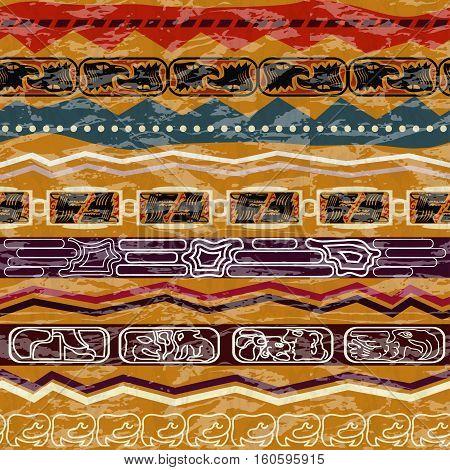Grange seamless texture. Bright ethno tribal style