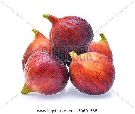 fig fruit isolated on the white background