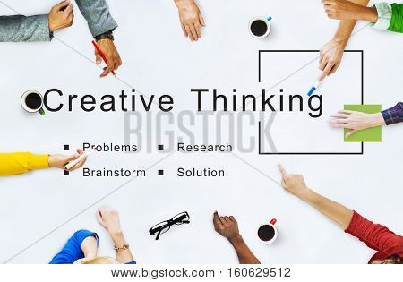 Creative Thinking Startup Strategy Goals Concept