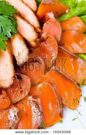 Smoked Salmon, Macro