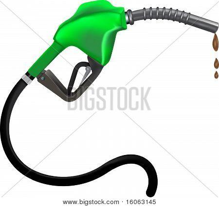 Ilustração de vetor de bocal de gasolina