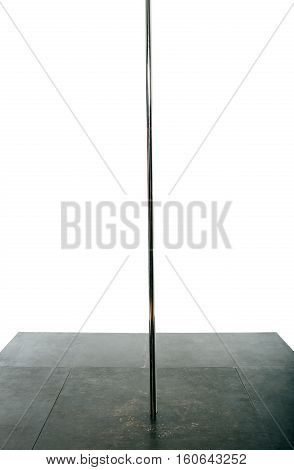 Pylon for pole dance on white background