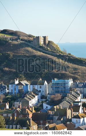 Hastings  Old Town on asunny winters day
