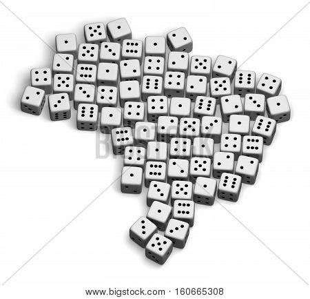 Brazil 3D map shape game dice gamble image