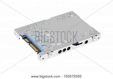 Notebook hard disk drive (HDD) isolated on white background