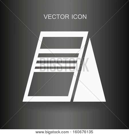 Outdoor advertising vector picture