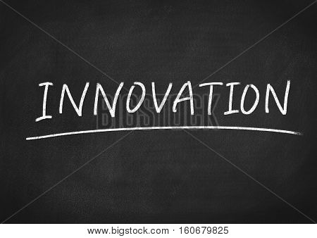 innovation concept word text on blackboard background