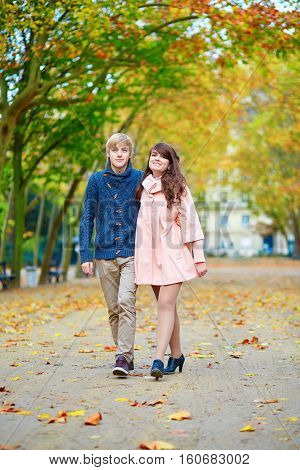 Young Dating Couple In Paris On A Fall Day