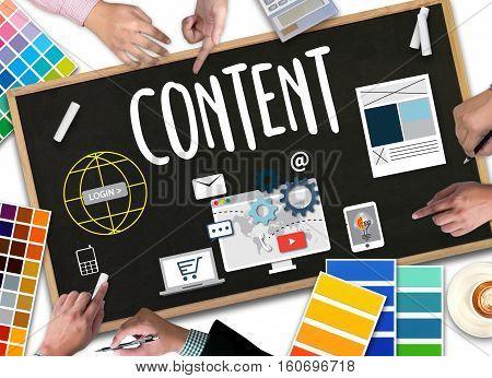 Content Marketing, Online Concept , Content Data Blogging Media Publication Content Marketing , Cont