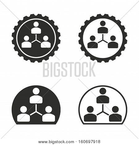 Human interaction vector icons set. Illustration isolated for graphic and web design.