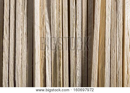 Background and texture of the wooden sticks