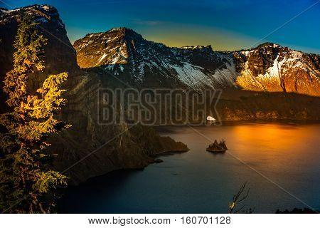 Phantom Ship Island Crater Lake