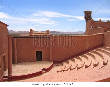 Outside Old Theater Hall, Taourirt Kasbah, Ouarzazate, Morocco